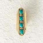 Inca gold with turquoise stones