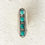 Antique silver with turquoise stones